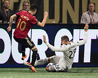 Atlanta, GA - March 17, 2018: Atlanta United FC vs Vancouver Whitecaps FC at Mercedes-Benz Stadium.