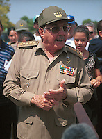 Raul Castro Ruz, Minister of the Armed Forces and brother of Fidel Castro. June 30, 2001. Credit: Jorge Rey/MediaPunch