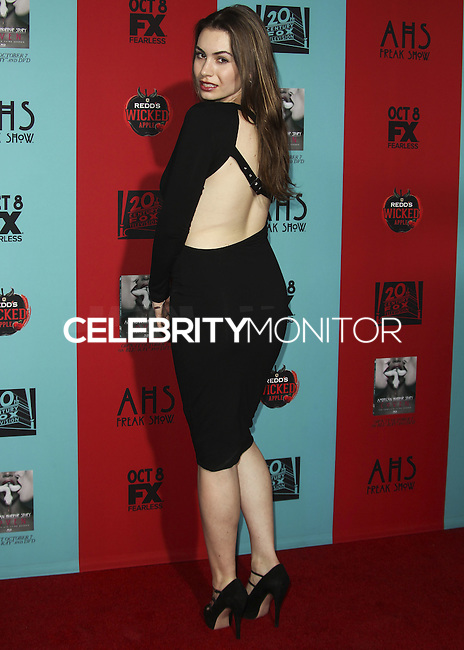 HOLLYWOOD, LOS ANGELES, CA, USA - OCTOBER 05: Sophie Simmons arrives at the Los Angeles Premiere Screening Of FX's 'American Horror Story: Freak Show' held at the TCL Chinese Theatre on October 5, 2014 in Hollywood, Los Angeles, California, United States. (Photo by Celebrity Monitor)
