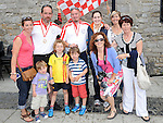 The McQuillan family pictured at the welcome party for the Oars of hope crew after they rowed from the Isle of Man to Drogheda. Photo: www.colinbellphotos.com