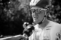 Luke Durbridge (AUS/Orica-GreenEDGE) interviewed after the stage<br /> <br /> 2014 Tour de France<br /> stage 11: Besan&ccedil;on - Oyonnax (187km)