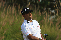 Anirban Lahiri (IND) in action on the 16th during Round 2 of the Hero Indian Open at the DLF Golf and Country Club on Friday 9th March 2018.<br /> Picture:  Thos Caffrey / www.golffile.ie<br /> <br /> All photo usage must carry mandatory copyright credit (&copy; Golffile | Thos Caffrey)