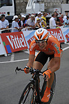 Euskaltel Euskadi team rider Igor Anton (ESP) rounds the last bend of the Prologue Stage 1 of the 2009 Tour de France a 15.5km individual time trial held around Monaco. 4th July 2009 (Photo by Eoin Clarke/NEWSFILE)