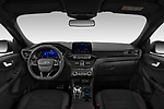 Stock photo of straight dashboard view of 2020 Ford Kuga ST-Line 5 Door SUV Dashboard