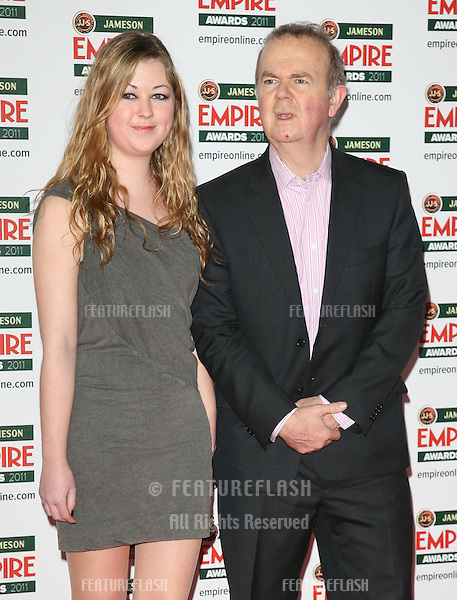 Ian Hislop and Emily Hislop arriving for the Jameson Empire Awards 2011, Grosvenor House Hotel, London. 27/03/2011  Picture by: Alexandra Glen / Featureflash