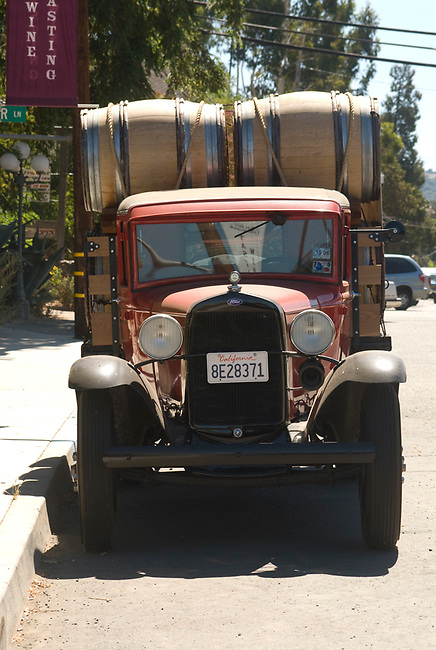 Winery truck in Booneville, california