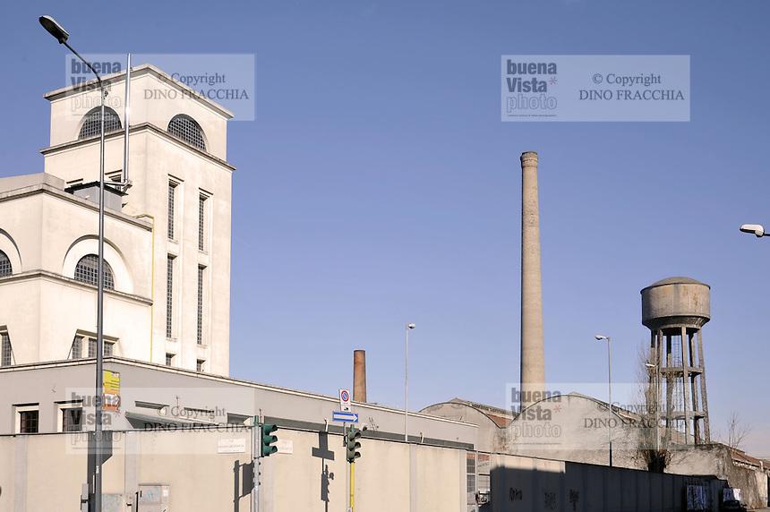 - Milano, strutture industriali dismesse in via Quaranta, periferia sud-est....- Milan, abandoned industrial buildings in Quaranta street south-east  suburbs