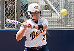April 15, 2012:  California Bears Cheyene Cordes at the plate against the Arizona Wildcats during their NCAA softball game played at Levine-Fricke Field on Sunday afternoon in Berkeley, California.  California won the game 6-0.