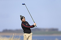 Gerard Dunne (Co Louth) during the first round of matchplay at the 2018 West of Ireland, in Co Sligo Golf Club, Rosses Point, Sligo, Co Sligo, Ireland. 01/04/2018.<br /> Picture: Golffile | Fran Caffrey<br /> <br /> <br /> All photo usage must carry mandatory copyright credit (&copy; Golffile | Fran Caffrey)