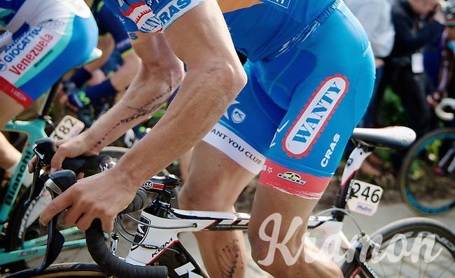 cycling tattoos for Bjorn Leukemans (BEL/Wanty-GroupeGobert)<br /> <br /> 57th E3 Harelbeke 2014