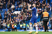 Chelsea's Olivier Giroud applauds the fans at the final whistle <br /> <br /> Photographer Stephanie Meek/CameraSport<br /> <br /> The Premier League - Chelsea v Everton - Sunday 8th March 2020 - Stamford Bridge - London<br /> <br /> World Copyright © 2020 CameraSport. All rights reserved. 43 Linden Ave. Countesthorpe. Leicester. England. LE8 5PG - Tel: +44 (0) 116 277 4147 - admin@camerasport.com - www.camerasport.com
