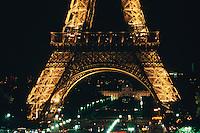 Eiffel Tower at night, Paris, France, Europe