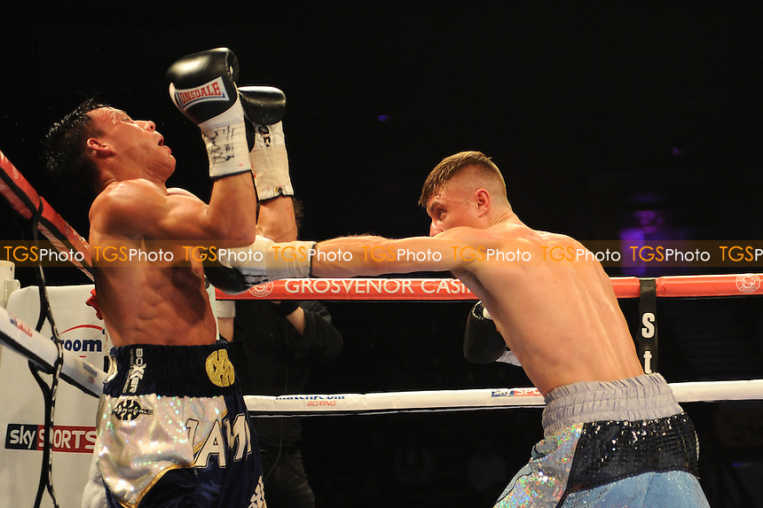 Anthony Nelson stops Jamie Wilson for the Commonwealth Super Flyweight Title - Boxing at the Metro Radio Arena, Newcastle, promoted by Matchroom Sports - 04/04/15 - MANDATORY CREDIT: Steven White/TGSPHOTO - Self billing applies where appropriate - contact@tgsphoto.co.uk - NO UNPAID USE
