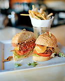 USA; California; Los Angeles; Beverly Hills; Food Shot; Hamburger; Fries; The BLVD Restaurant; The BLVD; Restaurant; Beverly Wilshire Hotel; Four Seasons Resort; Rodeo Drive; Brown Cannon; Dine; Lunch; Burger And Fries; Hungry; Dine; Food And Drink