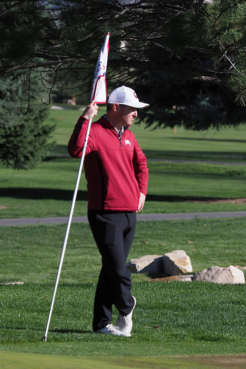 April 22, 2017; Provo, UT, USA; Loyola Marymount Lions men's golf head coach Jason D'Amore during the WCC Golf Championships at Riverside Country Club.