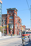 The Gladstone Hotel is the oldest continuously operating hotel in Toronto. It was originally built in 1889 as a stylish hostelry across from the then existing Parkdale railroad station which serviced the Grand Trunk, the Canadian Pacific Railway, and the Canadian National Railway companies. In addition to serving the three major railway companies at the time it provided visitors attending the Canadian National Exhibit to have a place to stay..The location of the Gladstone Hotel, just east of Dufferin on Queen Street West, was once considered the western edge of Toronto and it provided accommodations to travelers from the Parkdale train station as well as visitors and exhibitors at the Canadian National Exhibition..The Gladstone was named for Gladstone Avenue, which was named after British prime minister William Ewart Gladstone. .The Gladstone was one of the first ten hotels in Ontario to receive permission to allow patrons to drink and play shuffleboard in a licensed alcoholic area. At one time the Gladstone Hotel was the last place to obtain hard liquor before reaching Hamilton. Each hotel room is designed by a different artist.