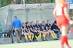Mannheim, Deutschland, March 30: Players of Eintracht Braunschweig sit on the bench during the match between the Mannheimer HC and Eintracht Braunschweig on March 30, 2014 at Mannheimer Hockey Club in Mannheim, Deutschland. Final score 2:2 (1:2) (Photo by Dirk Markgraf / www.265-images.com) *** Local caption ***