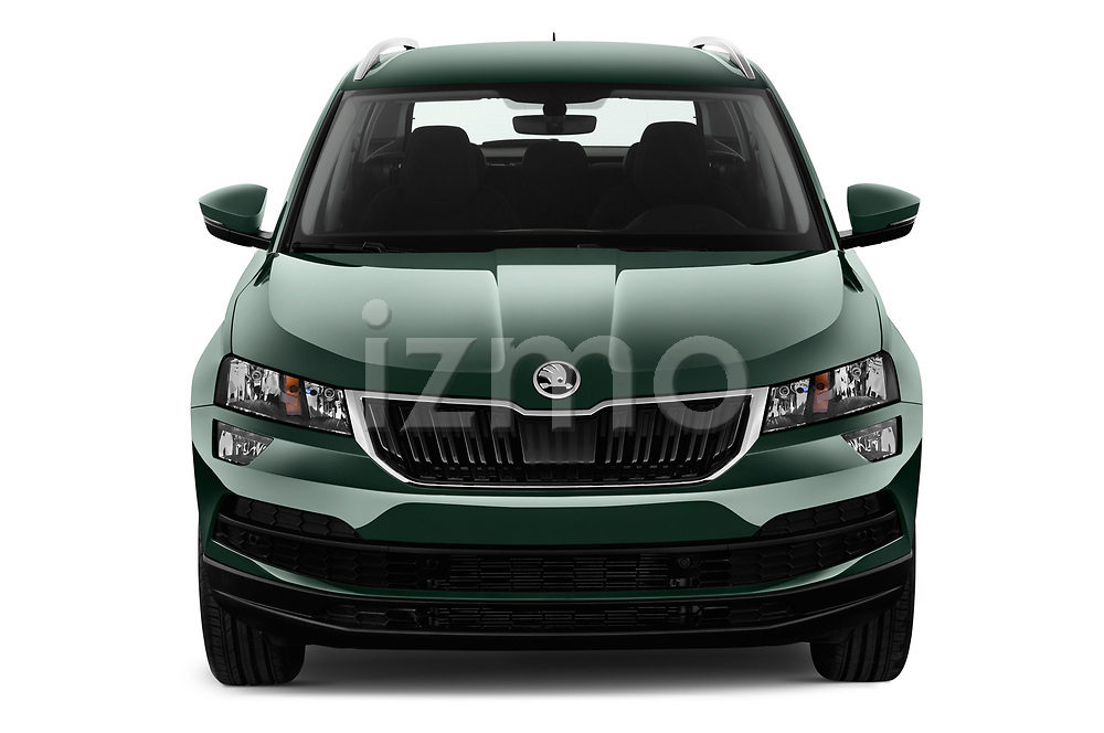 Car photography straight front view of a 2018 Skoda Karoq Ambition 5 Door SUV