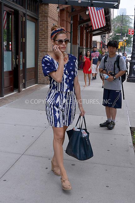 WWW.ACEPIXS.COM . . . . . <br /> July 10, 2013...New York City....<br /> <br /> Eva Mendes in TRiBeCa on July 10, 2013 in New York City. <br /> Please byline: CURTIS MEANS - WWW.ACEPIXS.COM.. . . . . . ..Ace Pictures, Inc: ..tel: (212) 243 8787 or (646) 769 0430..e-mail: info@acepixs.com..web: http://www.acepixs.com