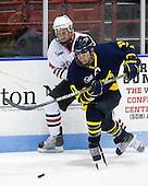 Elliott Sheen (Merrimack - 11), Tyler McNeely (Northeastern - 94) - The visiting Merrimack College Warriors defeated the Northeastern University Huskies 4-3 (OT) on Friday, February 4, 2011, at Matthews Arena in Boston, Massachusetts.