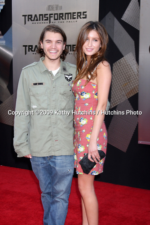 """Emile Hirsch & Date arriving at the """"Transformers: Revenge of the Fallen"""" Premiere at the Mann's Village Theater in Westwood, CA  on June 22, 2009.  .©2009 Kathy Hutchins / Hutchins Photo"""