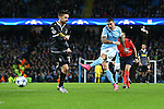 Aleksander Kolarov of Manchester City shoots on goal - Manchester City vs Monchengladbach - UEFA Champions League - Etihad Stadium - Manchester - 08/12/2015 Pic Philip Oldham/SportImage