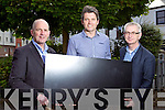 Brendan Kennelly, Marketing Manager Kerry's Eye, Nathan McDonnell Ballyseedy Home and Outing Living Centre and Colin Lacey, Editor Kerry's eye.