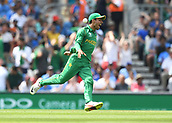 June 18th 2017, The Kia Oval, London, England;  ICC Champions Trophy Cricket Final; India versus Pakistan; Shadab Khan of Pakistan celebrates catching Virat Kohli of India
