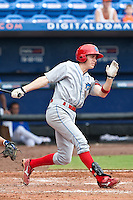 Korby Mintken (6) of the Clearwater Threshers during a game vs. the St. Lucie Mets May 30 2010 at Digital Domain Park, Port St. Lucie Florida. St. Lucie won the game against Clearwater by the score of 3-2. Photo By Scott Jontes/Four Seam Images