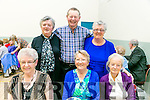 At the Ardfert Community Centre Tea Dance  in aid of the Ardfert/Kilmoyley Senior Citizens Group on Sunday were Front l-r Mary Carney, Theresa Fallon, Margaret Hickey Back l-r Betty Herlihy, Mossie Herihy, Phyllis Mclaughlin