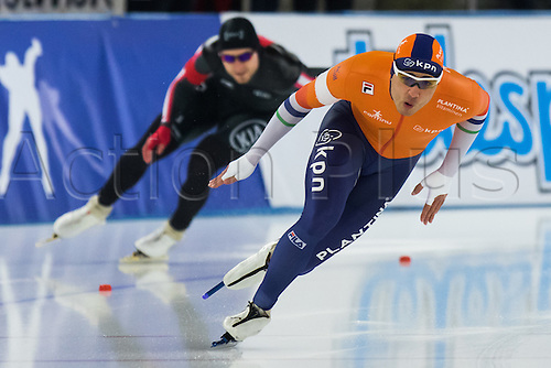 January 29th 2017, Sportforum, Berlin, Germany; ISU Speed Skating World Cup;  ISU Speed Skating World Cup , 500m Division A; Kai Verbij (NED)