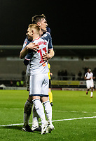 Bolton Wanderers' Ryan Delaney celebrates scoring his side's first goal with team mate Ali Crawford (left)  <br /> <br /> Photographer Andrew Kearns/CameraSport<br /> <br /> The Premier League - Leicester City v Aston Villa - Monday 9th March 2020 - King Power Stadium - Leicester<br /> <br /> World Copyright © 2020 CameraSport. All rights reserved. 43 Linden Ave. Countesthorpe. Leicester. England. LE8 5PG - Tel: +44 (0) 116 277 4147 - admin@camerasport.com - www.camerasport.com
