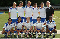 The starting eleven for the Boston Breakers.  The Philadephia Independence prevailed, 2-0 on a beatiful Mother's Day evening at Widener University in Chester, PA.