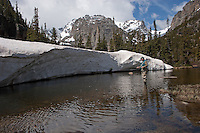 High mountain lake after ice-out for Greenback Cutthroat in Rocky Mountain National Park