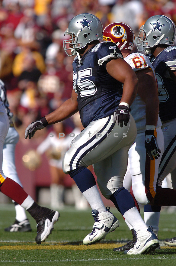 JASON FERGUSON, of the Dallas Cowboys ,during their game against  the  Washington Redskins on Novmeber 05, 2006 in Washington D.C....Redskins win 22-19..Tomasso DeRosa / SportPics