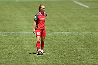 Portland, OR - Saturday July 15, 2017: Emily Sonnett during a regular season National Women's Soccer League (NWSL) match between the Portland Thorns FC and the North Carolina Courage at Providence Park.