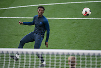 Callum Hudson-Odoi of Chelsea U23 pre match during the Premier League 2 match between Chelsea U23 and Brighton & Hove Albion Under 23 at Stamford Bridge, London, England on 13 September 2019. Photo by Andy Rowland.
