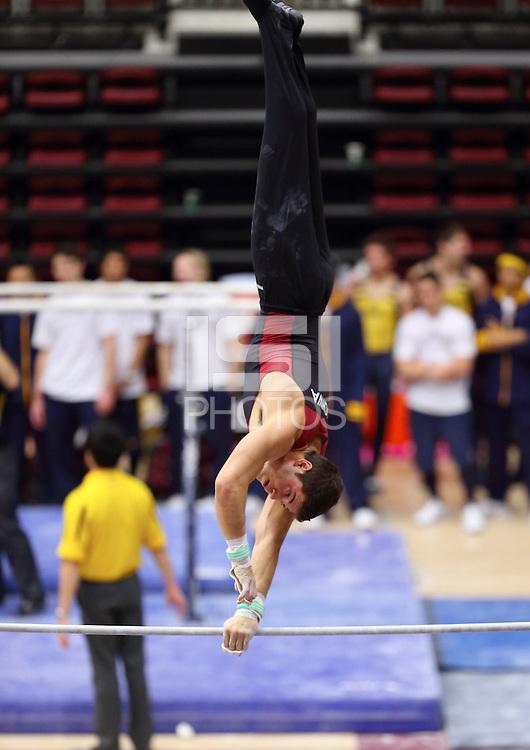 Stanford, CA; Sunday February 17, 2013: Men's Gymnastics, Stanford vs California.