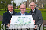 Conor Hennigan (Malton Hotel General Manager), Mike O'Shea (Sunday's Well Properties) and Padraig Lacey (Killarney Park and Ross Hotel) with the development plans for the gardens at the back of the Melton Hotel Killarney on Tuesday   Copyright Kerry's Eye 2008