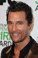 SANTA MONICA, CA, USA - MARCH 01: Matthew McConaughey in the press room during the 2014 Film Independent Spirit Awards held at Santa Monica Beach on March 1, 2014 in Santa Monica, California, United States. (Photo by Xavier Collin/Celebrity Monitor)
