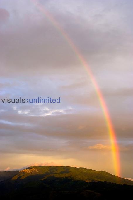 Rainbow over the Poas Volcano, Costa Rica