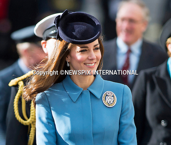 07.02.2016; London, England: KATE MIDDLETON LAUNCHES AIR CADETS 75TH ANNIVERSARY<br /> The Duchess of Cambridge marked the 75th anniversary year of the RAF Air Cadets as her first official engagement as Honorary Air Commandant of the organisation, by attending a service at RAF church St Clement Danes, followed by a reception held nearby at the Royal Courts of Justice.<br /> Kate took over the role from The Duke of Edinburgh just before Christmas, ending his 63-year association with the youth organisation.<br /> Mandatory Credit Photo: &copy;DiasImages/NEWSPIX INTERNATIONAL<br /> <br /> (Failure to credit will incur a surcharge of 100% of reproduction fees)<br /> IMMEDIATE CONFIRMATION OF USAGE REQUIRED:<br /> Newspix International, 31 Chinnery Hill, Bishop's Stortford, ENGLAND CM23 3PS<br /> Tel:+441279 324672  ; Fax: +441279656877<br /> Mobile:  07775681153<br /> e-mail: info@newspixinternational.co.uk<br /> Please refer to usage terms. All Fees Payable To Newspix International