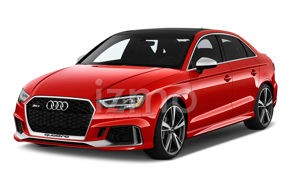 2017 Audi RS 3 Base 4 Door Sedan angular front stock photos of front three quarter view