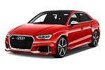2017 Audi RS 3 Base 4 Door Sedan angular front stock photos of front three quarter view