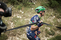 Simon Gerrans (AUS/Orica-BikeExchange) was involved in a crash 35km from the finish & broke his collarbone, forcing him to abandon the Tour for a 3rd year in a row<br /> <br /> stage 12: Montpellier - Mont Ventoux (shortened stage due to wind until Chalet Reynard; 178km)<br /> 103rd Tour de France 2016