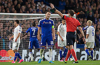 John Terry of Chelsea disagrees with a Referee decision during the UEFA Champions League Group G match between Chelsea and Dynamo Kyiv at Stamford Bridge, London, England on 4 November 2015. Photo by Andy Rowland.