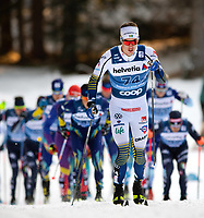 1st January 2020, Toblach, South Tyrol , Italy;  Johan Hoggstrom of Sweden competes in the mens 15 km classic technique pursuit during Tour de Ski on January 1, 2020 in Toblach.
