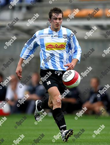 2008-08-09 / Voetbal / Verbroedering Geel-Meerhout / Nathan Van Brantegem..Foto: Maarten Straetemans (SMB)