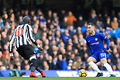 2nd December 2017, Stamford Bridge, London, England; EPL Premier League football, Chelsea versus Newcastle United; Eden Hazard of Chelsea is closed down by Mohamed Diamé of Newcastle United