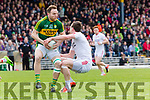 Darran O'Sullivan  Kerry turns  Tyrone Colm Cavanagh during their National League clash in Fitzgerald Stadium on Sunday